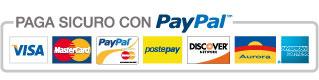 Pagamenti sicuri con PayPal e Carta di credito